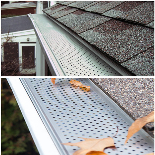 Gutter Guards in perforated plastic and aluminum sheet
