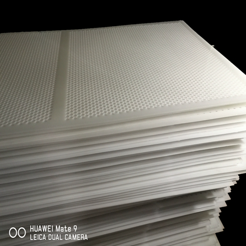 Perforated plastic sterilization layer pads